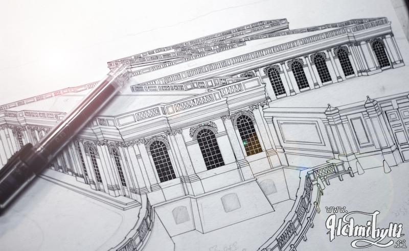 arkkitehtiopinnot-piirros