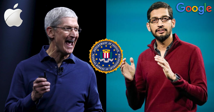 Apple vs. FBI — Google CEO Joins Apple in Encryption Backdoor Battle