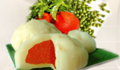 Bánh trung thu Bibica - Đậu xanh gấc 0 trứng