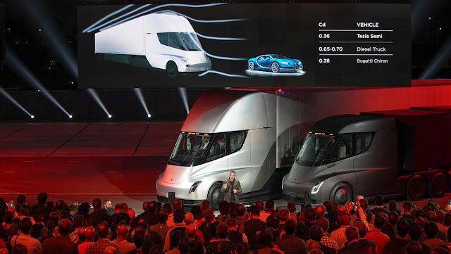 Elon Musk revoluciona el mundo del transporte con el nuevo camión electrico de #Tesla