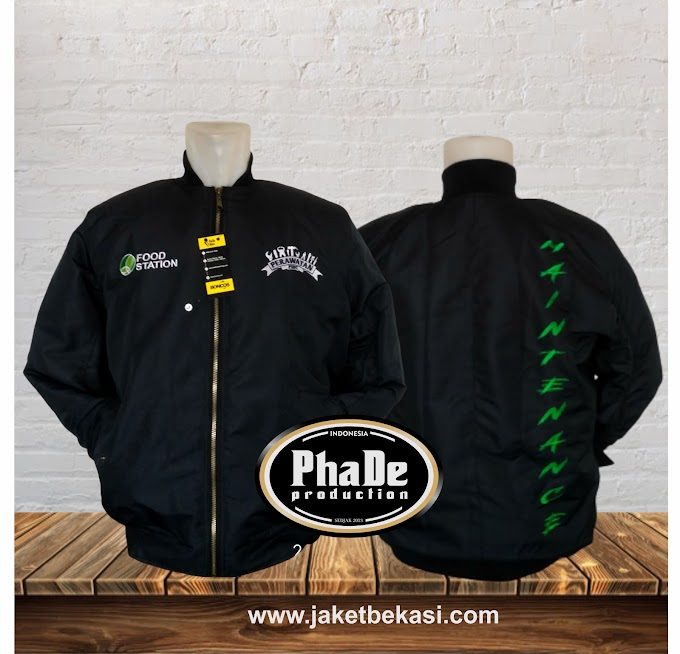Jaket Bomber Food Station by Jaketbekasi.com