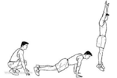 Latihan kelincahan Squat trust (Burpee) - berbagaireviews.com