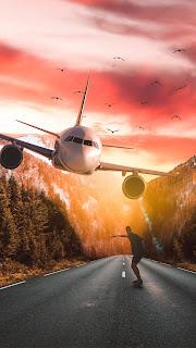Emergency Landing Airplane Mobile HD Wallpaper
