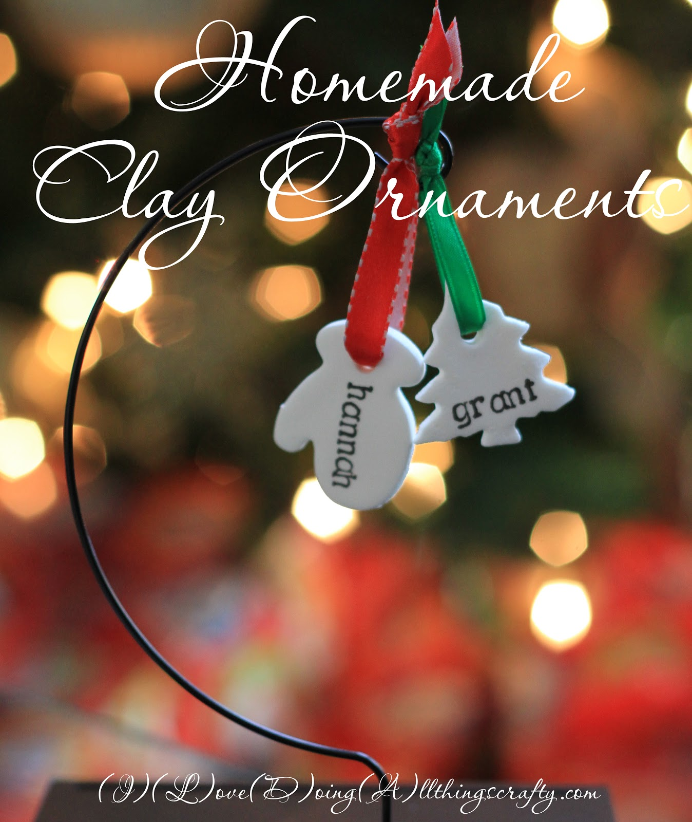 i love doing all things crafty homemade personalized clay ornaments