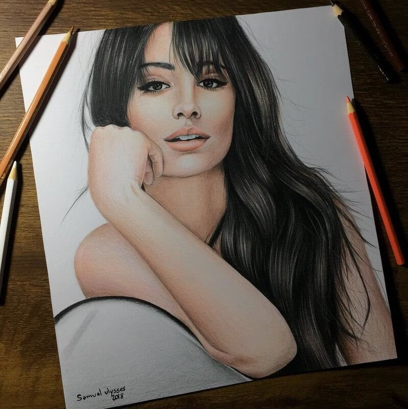 02-Camila-Cabello-Samuel-Ulysses-Celebrity-Portraits-in-Pencil-www-designstack-co