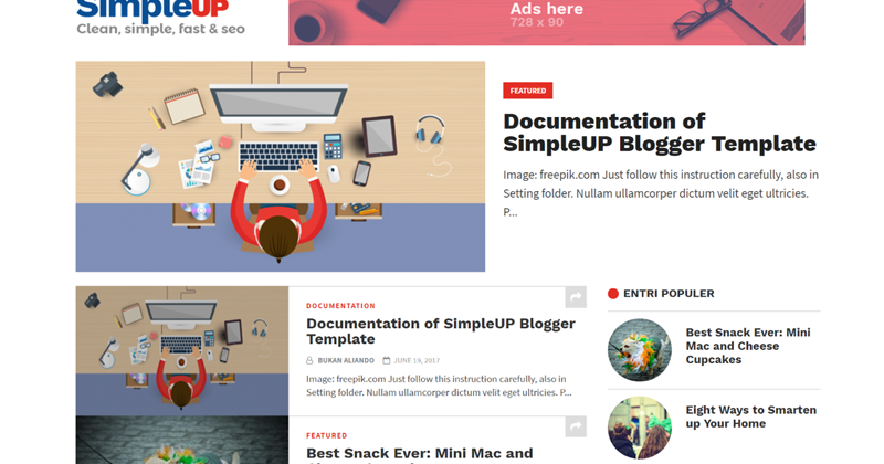 simpleup clean simple fastest and seo for blogger template themeindiecom