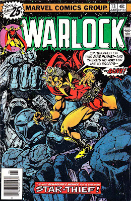Warlock v1 #13 marvel 1970s bronze age comic book cover art by Jim Starlin