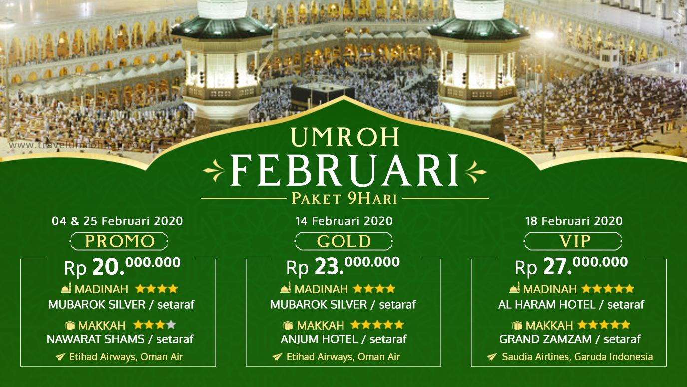 Promo Paket Umroh Biaya Murah Jadwal Bulan Februari 2020