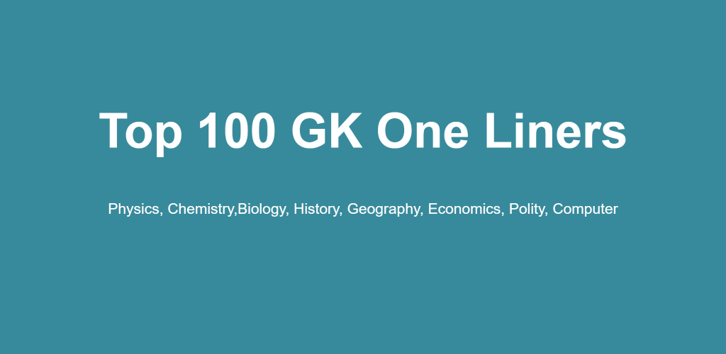 800 General Knowledge One liners for SSC CGL 2017 PDF (English