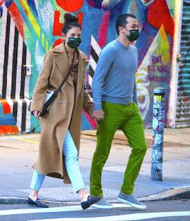 katie holmes walking to emilio s restaurant in soho ny 10 20 2020 7