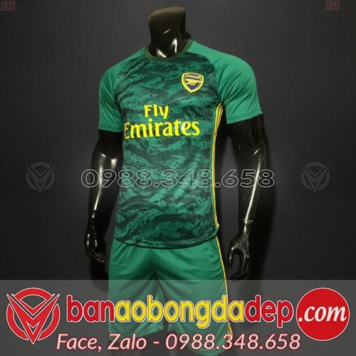 Áo Arsenal Xanh Lá 2020 Training 14