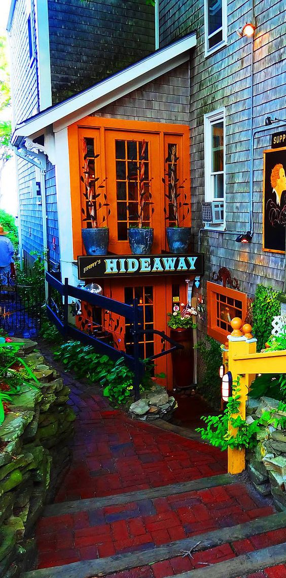 Jimmy's Hideaway, Provincetown, Massachusetts. Consistently rated one of the top restaurants on Cape Cod.