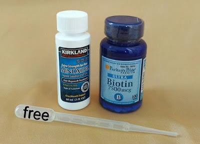Kirkland Minoxidil dan Biotin - Penumbuh Rambut karena Rontok atau Kebotakan, Solusi Penumbuh Brewok, Jenggot yang Sangat Ampuh