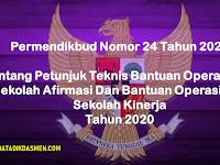 Permendikbud No 24 Tahun 2020 Tentang Juknis BOS Afirmasi Dan Bantuan Operasional Sekolah Kinerja