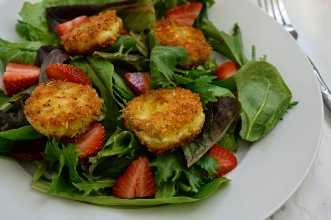 goat cheese croquettes - goat cheese salad