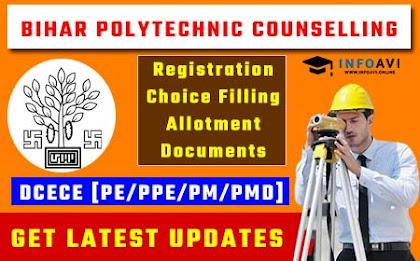 Bihar Polytechnic Counselling, DCECE Counselling, Bihar Polytechnic Online Counselling, Infoavi