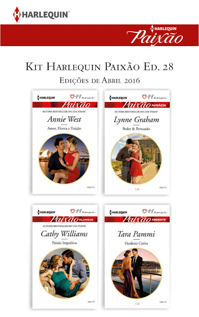 Kit Harlequin Paixão Abr.16 - Lynne Graham, Cathy Williams, Annie West, Tara Pammi