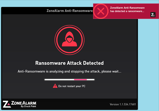 برنامج ZoneAlarm Anti-Ransomware.