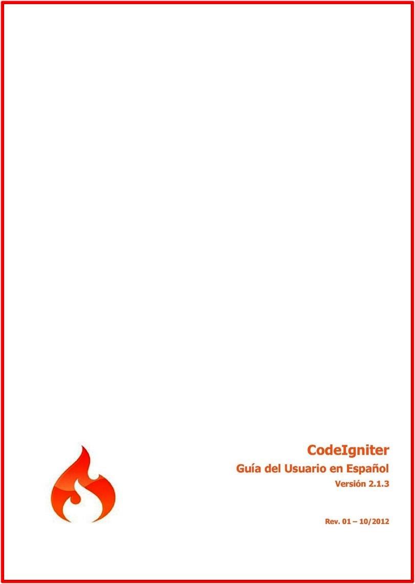 CodeIgniter: Guía del usuario en Español