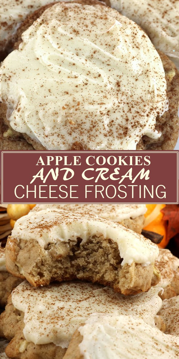 APPLE COOKIES AND CREAM CHEESE FROSTING #Cookiesrecipes