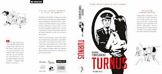 """Graficzny projekt okładki """"Turnusu"""" Barbary Tomaszewskiej z Wydawnictwa Novae Res. Jednym z patronów jest """"Czytam duszkiem""""."""