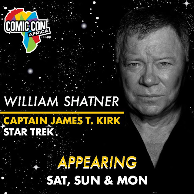 William Shatner @WilliamShatner - SCI-FI Cultural Icon To Appear @ComicConAfrica