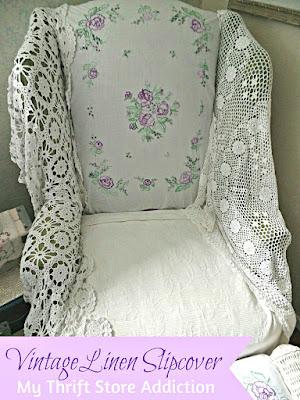 Vintage linen slipcover