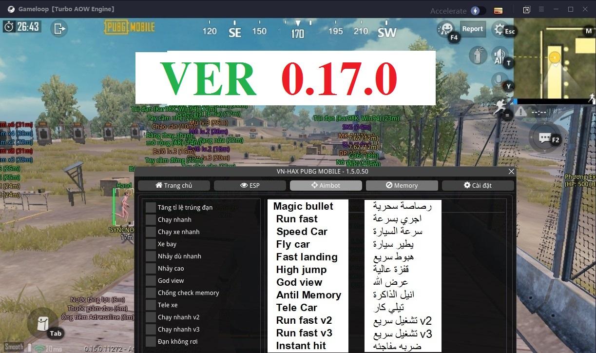 VnHax New Ui Pubg Mobile 0.18.0