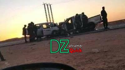 بالصور 3 قتلى و 5 جرحى بعد اصطدام قوي سيارتين نفعيتين في غرداية