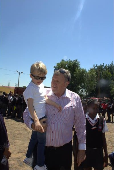 Princess Charlene, Prince Jacques and Princess Gabriella in South Africa