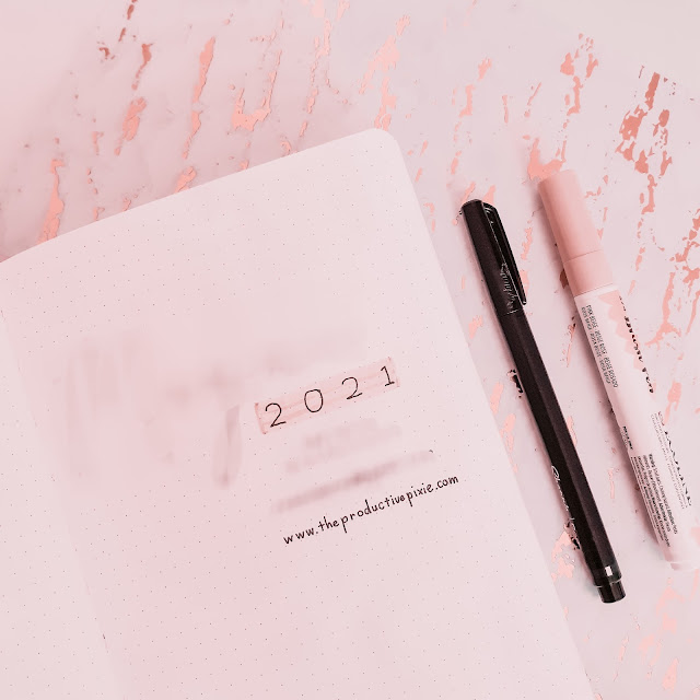My 2021 Bullet Journal Setup Part 1