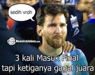 Meme Messi Menangis