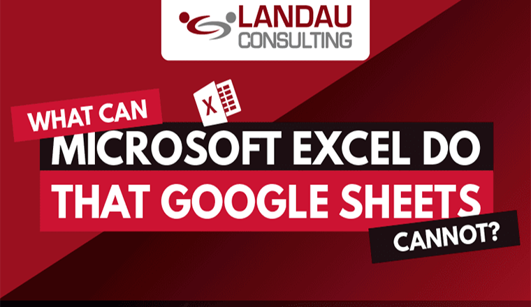 What Can Microsoft Excel Do That Google Sheets Cannot? #infographic