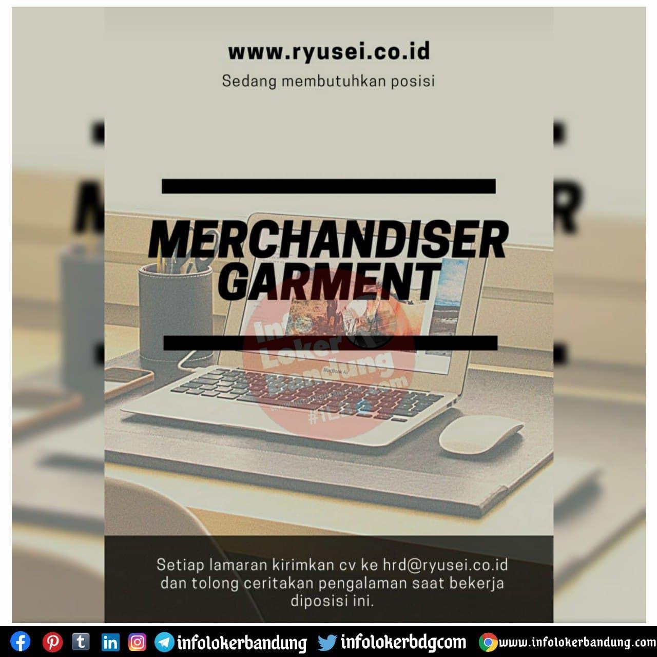 Lowongan Kerja Merchandiser Garment Ryusei Bandung November 2020