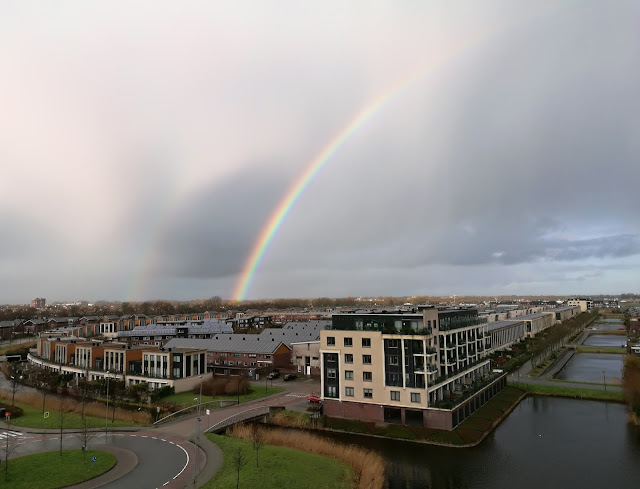 Spectacular rainbows over Alkmaar North Holland  4