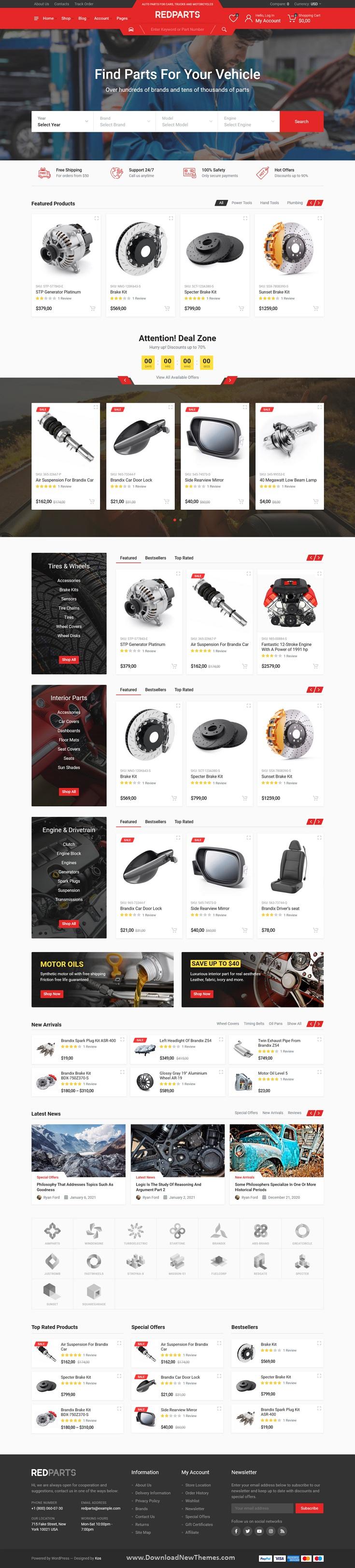 Auto Parts Website Theme
