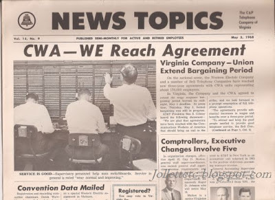 Telephone Company newspaper 1968
