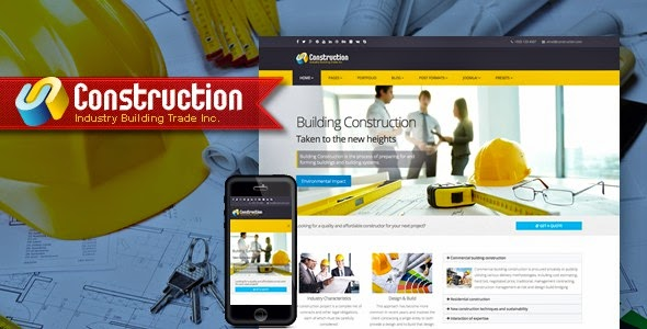 Best Responsive Construction Website Template