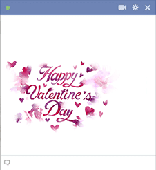 Happy Valentine's Day Text Emoticon