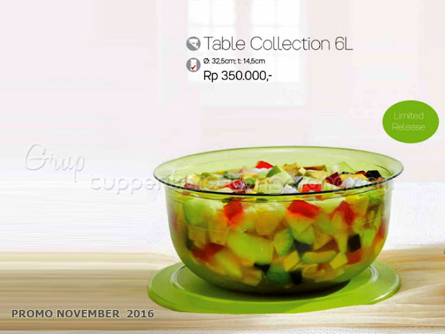Table Collection 6L Promo Tupperware November 2016
