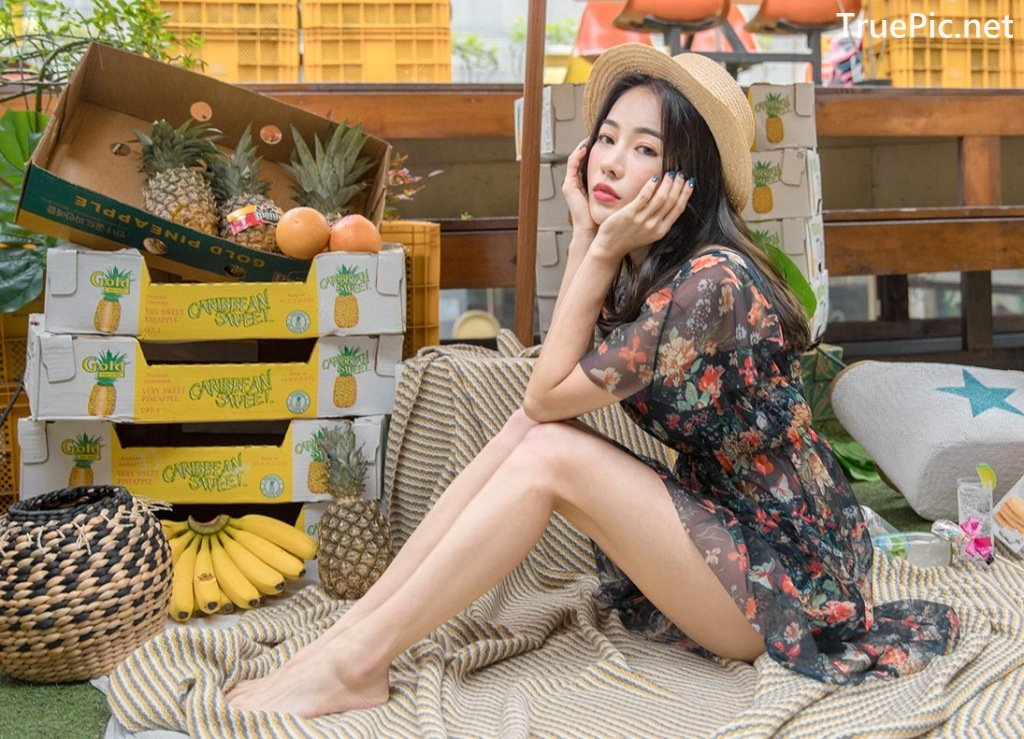 Image-An-Seo-Rin-Flower-and-Butterfly-Bikini-Korean-Model-Fashion-TruePic.net- Picture-9
