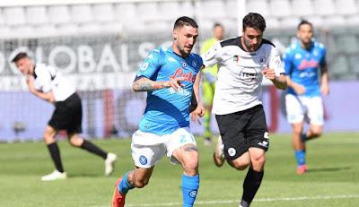 ملخص واهداف مباراة نابولي وسبيزيا (4-1) الدوري الايطالي