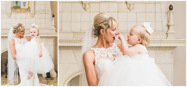 photos of bride and her daughter