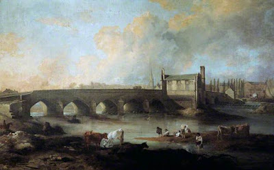 Wakefield_Bridge_and_Chantry_Chapel_by_Philip_Reinagle_1793 Public Domian Wikimedia Commons
