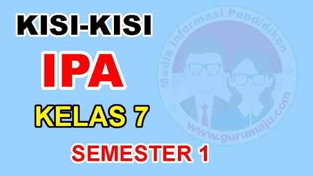 Kisi-Kisi UTS IPA Kelas 7 Semester 1 Kuriulum 2013 Tahun 2021