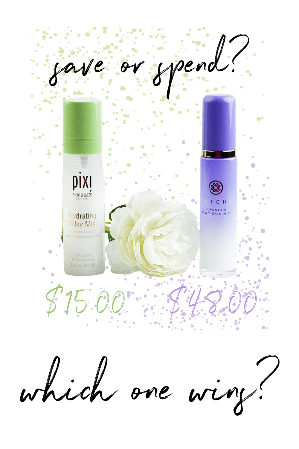 Save or Spend | Pixi Hydrating Milky Mist or Tatcha Luminous Dewy Skin Mist - Which one Wins?
