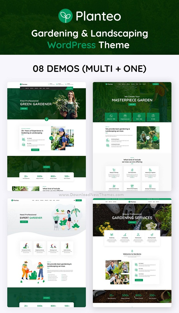 Best Gardening and Landscaping Website Theme