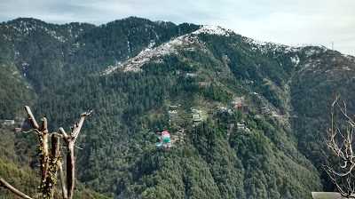 Snow covered Himalayas in Himachal Pradesh