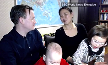 Meet the family who gatecrashed that BBC interview