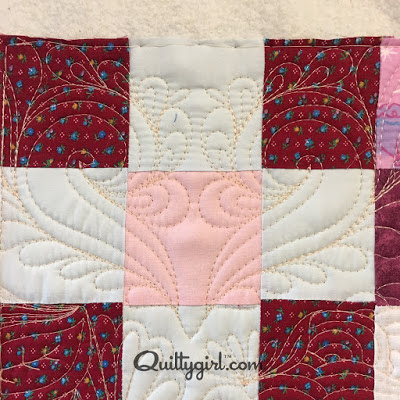 quilted heart motif